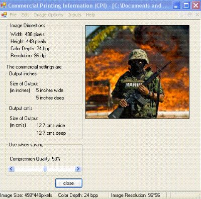 Click to view Commercial Printing Information  CPI 3.0.0.0 screenshot